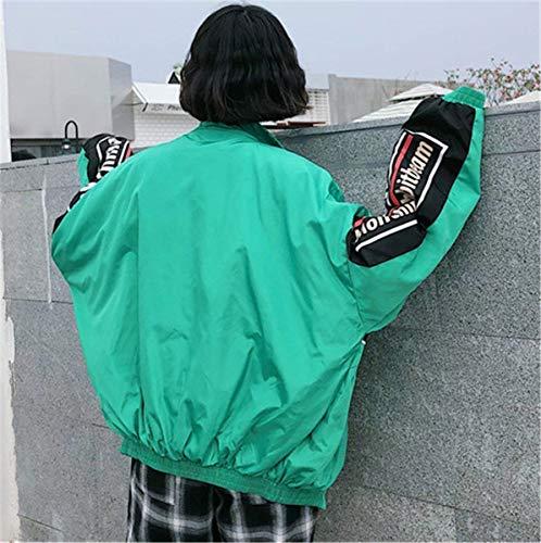 Lunga Donne Battercake Collo Chiusura Casual Elegante Coreana Outwear Donna Digitale Stampato Casuale Grün Giacca Giaccone Manica A Autunno Misti Moda Primaverile Colori Sweat Cerniera vpw8rSqv