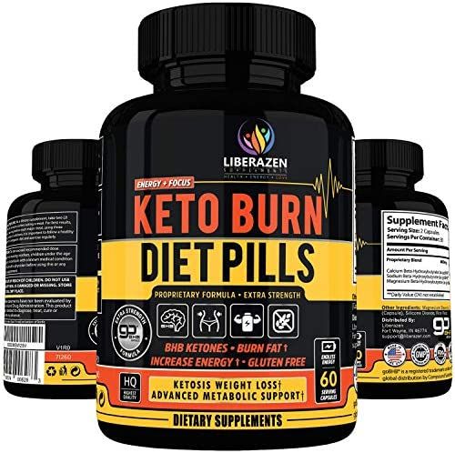 Keto Burn Diet Pills - Instant Ketosis BHB Supplement for Women and Men - Advanced Weight Loss, Energy & Focus - 60 Capsules 2