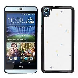 Caucho caso de Shell duro de la cubierta de accesorios de protección BY RAYDREAMMM - HTC Desire D826 - estrellas de colores en tonos pastel fondo de pantalla
