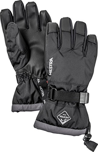 Hestra Ski Gloves for Kids: Waterproof C-Zone Cold Weather Winter Gloves, Dark Navy/Turquise, 3