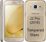 M.G.R.J Samsung Galaxy J2 Pro (2016) Tempered Glass Screen Protector with 0.3mm Ultra Slim 9H Harness, 2.5D Round Edge, Crystal Clear & Alcohol wipes