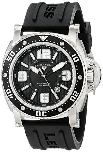 Swiss Legend Men's 11503-01 Typhoon Analog Display Swiss Quartz Black Watch