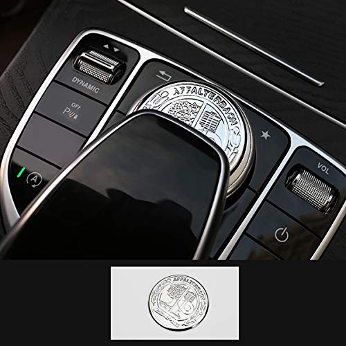 TopDall AMG Interior Media Control Sticker Affalterbach Tree Logo for Mercedes Benz