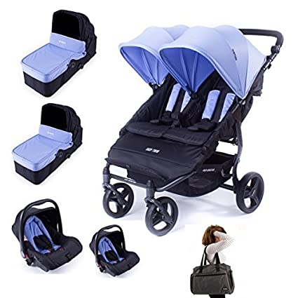 17a7a59cc Baby Monsters Silla gemelar EASY TWIN 3.S + 2 capazos + 2 Grupo 0 + ...