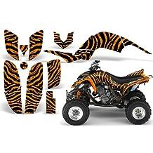 CreatorX Yamaha Raptor 660 Graphics Kit Decals Stickers Zebra Camo Orange
