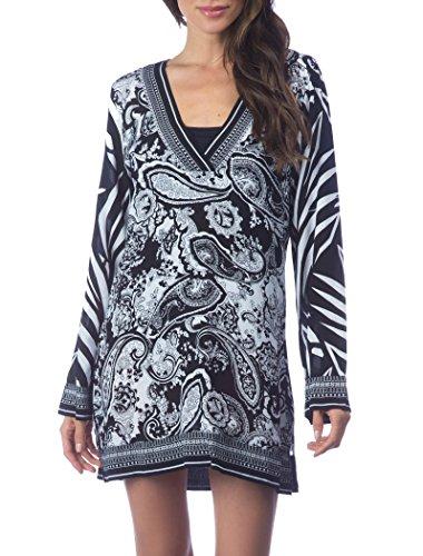 La Blanca Women's Sevilla V-Neck Tunic Cover up, Bwh, L
