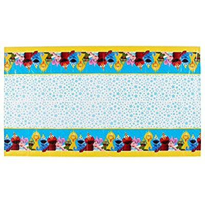 American Greetings Plastic Table Cover for Arts & Crafts, Sesame Street (1-Count): Toys & Games