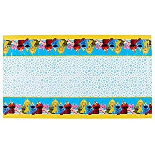 Amscan 571672 Table Cover   Sesame Street Collection   Party Accessory 36 sq. ft