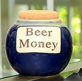 Tumbleweed 'Beer Money' Funny Money Bank; Ceramic Jar With Cork Lid, Coin Bank