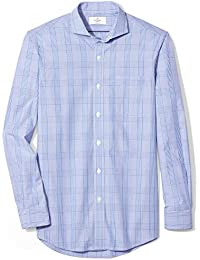 Men's Classic Fit Cutaway-Collar Supima Cotton Dress Casual Shirt