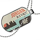 Dogtag USA Rivers Jordan River - Maine Dog tags necklace - Neonblond