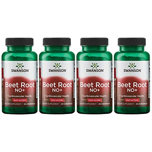 Swanson Beet Root No+ Fast-Acting 60 Chwbls 4 Pack