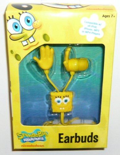 SpongeBob Squarepants 11462-DB-6 Molded Ear Buds, Yellow (11462-DB-6)