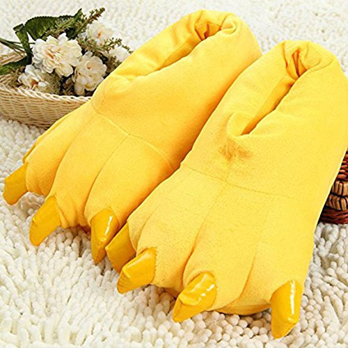 Slippers Homewear YUWELL Slippers Slippers Yellow Shoes Warm Paw Plush Claw Soft Fuzzy Animal Adult wfTgfqt