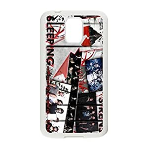 Pop Band&Sleeping With Sirens Theme Silicone Rubber Non-slip Protective Cover Case Skin For Samsung Galaxy S5 I9600