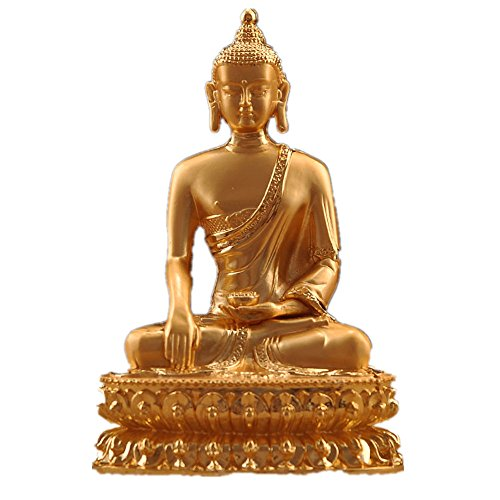 6 '' Opening Light Amitabha/Medicine/Shakyamuni Alloy Copper Buddhist Suppliers Buddha Statue - Gold Buddhist Statues