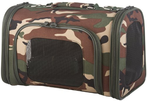 Camouflage Camo Dog Cat Soft-Sided Pet Carrier Medium, 16-inch, My Pet Supplies