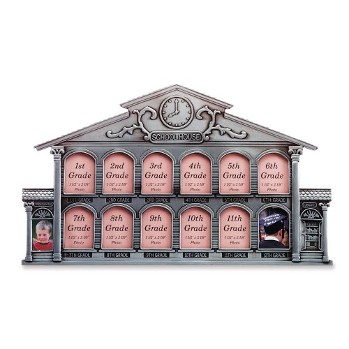 Gifts & Decor Pewter School House Schoolhouse History Photo Frame (House Pictures)
