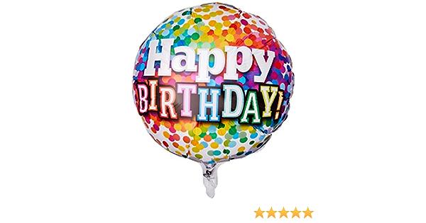 Qualatex Rainbow Confettis 15//15th ans anniversaire 18 in Foil Balloon environ 45.72 cm