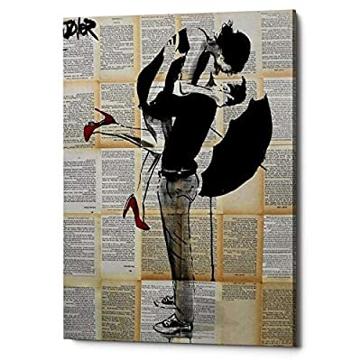 "Epic Graffiti""Always Again"" by Loui Jover, Giclee Canvas Wall Art, 12""x18"""