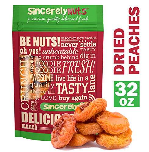 (Sincerely Nuts Dried Peaches (2 LB) Vitamin C-Rich Snack - Classic Favorite for the Whole Family - Vegan & Kosher)