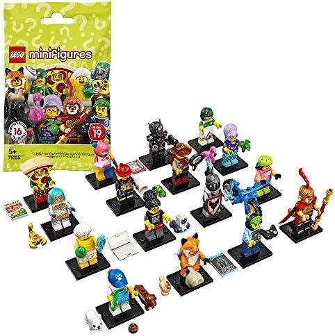 LEGO Minifigures - 1 Sobre de Minifigura de la Edición 19, Juguete de Construcción Coleccionable de Minifigura con Diferentes Modelos, Cada Sobre Sorpresa Contiene un Personaje Diferente (71025): Amazon.es: Juguetes y juegos