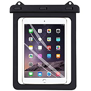 Universal iPad Waterproof Case, AICase Dry Bag Pouch for iPad Pro 10.5, New iPad 9.7 2017, iPad Pro 9.7, iPad Air/Air 2, Tablets up to 11.5 Inch (Black)