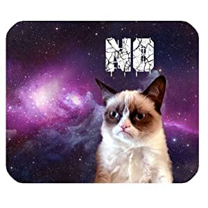 Grumpy Cat Galaxy Space Personalized Rectangle Mouse Pad by mcsharks