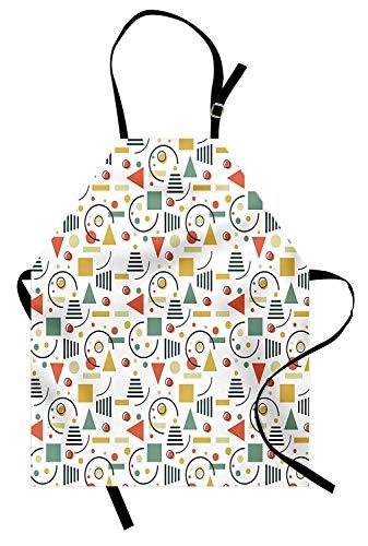 Retro Aprons, Adjustable Bib Kitchen Cooking Apron for