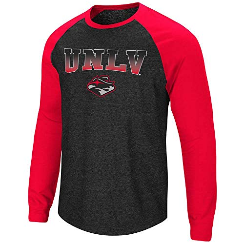 Unlv T-shirts - Colosseum Mens UNLV Rebels Long Sleeve Raglan Tee Shirt - M