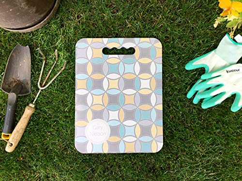 Qualtry Personalized Outdoor Garden Kneeler Gardening Gifts, Can Also Be Bath Kneeler, Bench Cushion Foam and Yoga Knee Pads 10'' x 13'' x 0.5'' (Yellow Circles Design) by Qualtry