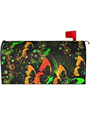 IOAOAI Mailbox Covers Magnetic Post Box Protector for Outdoor Garden Home DÃcorButterfly Abstract Flowers