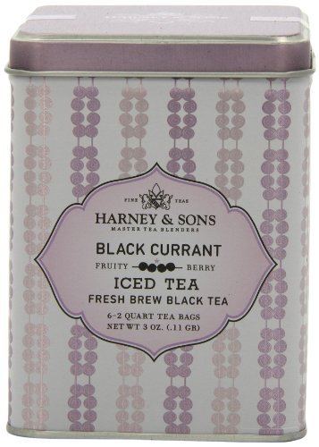 Harney & Sons Black Iced Tea, Black Currant, 6 Tea Bags