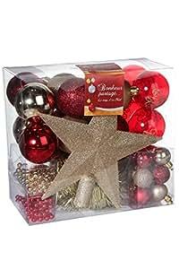 Lote de decoraci n navide a kit de 44 piezas para - Decoracion navidena amazon ...
