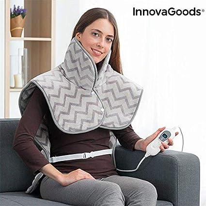 InnovaGoods IG813574 - Almohadilla Eléctrica para Cuello, Hombros y Espalda, 60 x 90 cm
