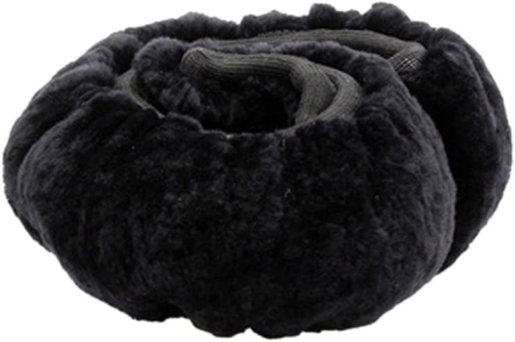 Ruixia Fluffy Wool Winter Warm Car Steering Wheel Cover Super Soft Cashmere Steering Wheel Sets Non-slip Wheel Cover Car Protector Car Accessory For Universal Diameter 35-42CM