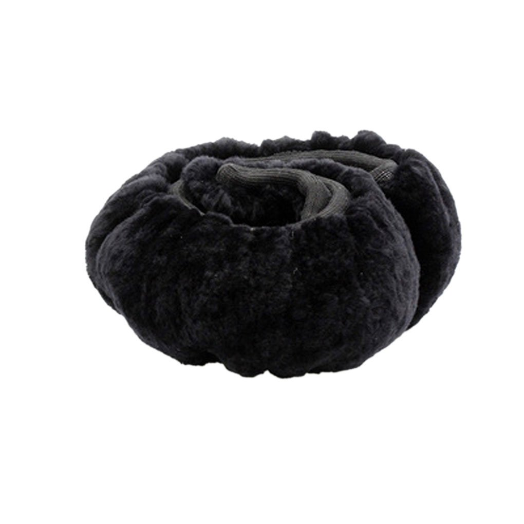 Winter Warm Velvet Steering Wheel Cover Wrap Fluffy Plush Car Steering Wheel Protector Anti-Slip Stretchable Universal Vehicle Steering Wheel Cover Protector Car Accessory Decoration For Women Men