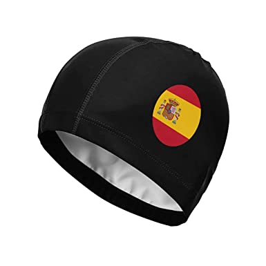 Suhatt Gorra de natación, Spain Flag. Spain Round Flag Swim Cap ...