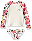 Billabong Little Girls' Sun Dream Long Sleeve Rashguard Two Piece Swim Set, Multi, 4