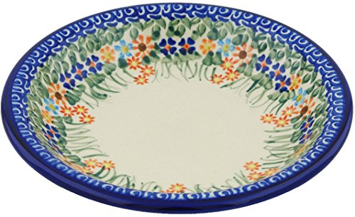 Polish Pottery Pasta Bowl 9-inch (Blissful Daisy) (9 Inch Daisy Bowl)