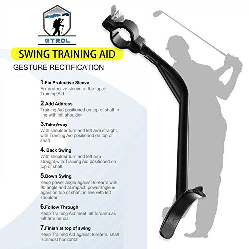 ETROL Golf Swing Training Aid Practicing Guide - Golf Swing Arm Band Training Aid - Gold Training Set by ETROL (Image #3)