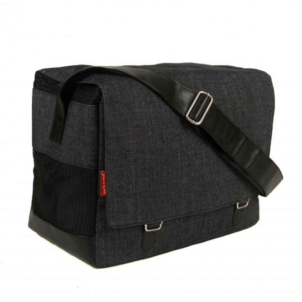 Bark-n-Bag Outback Messenger Collection Organic Denim Pet Carrier by Bark-n-Bag