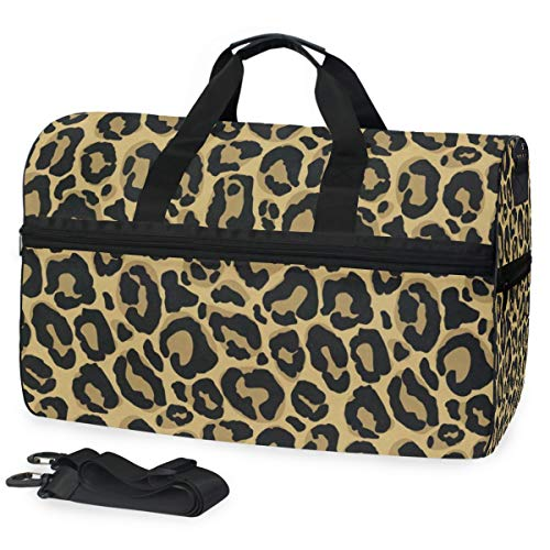 Gym Bag Leopard Pattern Duffle Bag Large Sport Casual Fashion Bag for Men Women