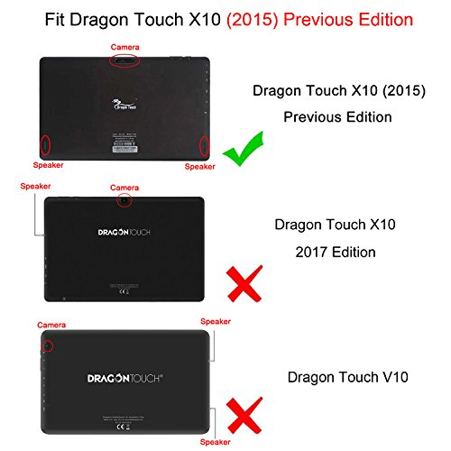 Fintie Keyboard Case for Dragon Touch X10 (Previous Edition
