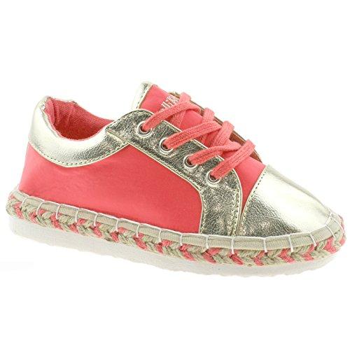 Lelli Kelly LK4604 (A182) Corallo Marbelle Lightweight Espadrille Shoes-31 (UK 12.5)