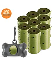 Simply Natural Dog Poop Bags and Dispenser 120 Pack 100% Extra Thick Biodegradable Dog Poo Bags with Dog Poop Bags Dispenser and Durable Lead Clip for 120 Pack Dog Waste Bags
