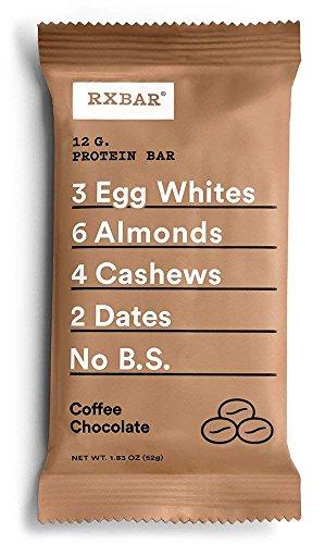 RXBAR Whole Food Protein Bar, Coffee Chocolate, 1.83oz Bars, 12 Count