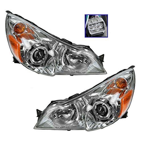 (Headlight Headlamp LH & RH Pair Set of 2 for 10-12 Subaru Legacy Outback)