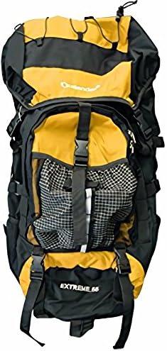 55Lの大容量でも大きすぎない便利なサイズ ザック バックパック 55L (黄)