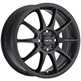 Vision Venom 17 Black Wheel / Rim 4x100 & 4x4.5 with a 42mm Offset and a 73.1 Hub Bore. Partnumber 425-7703MB42
